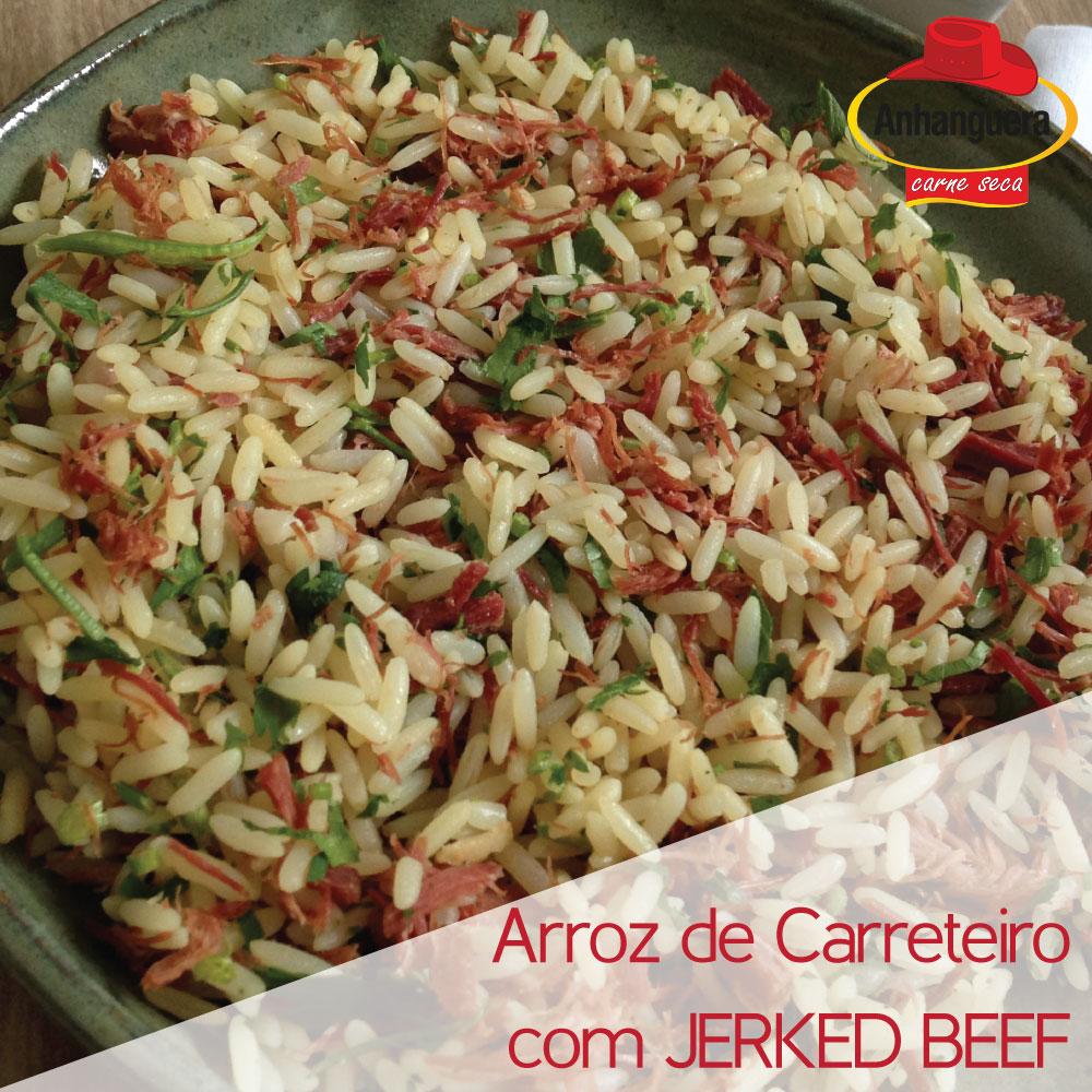 Arroz de carreteiro com Jerked Beef, - Anhanguera Charque Jerked Beef Jaba