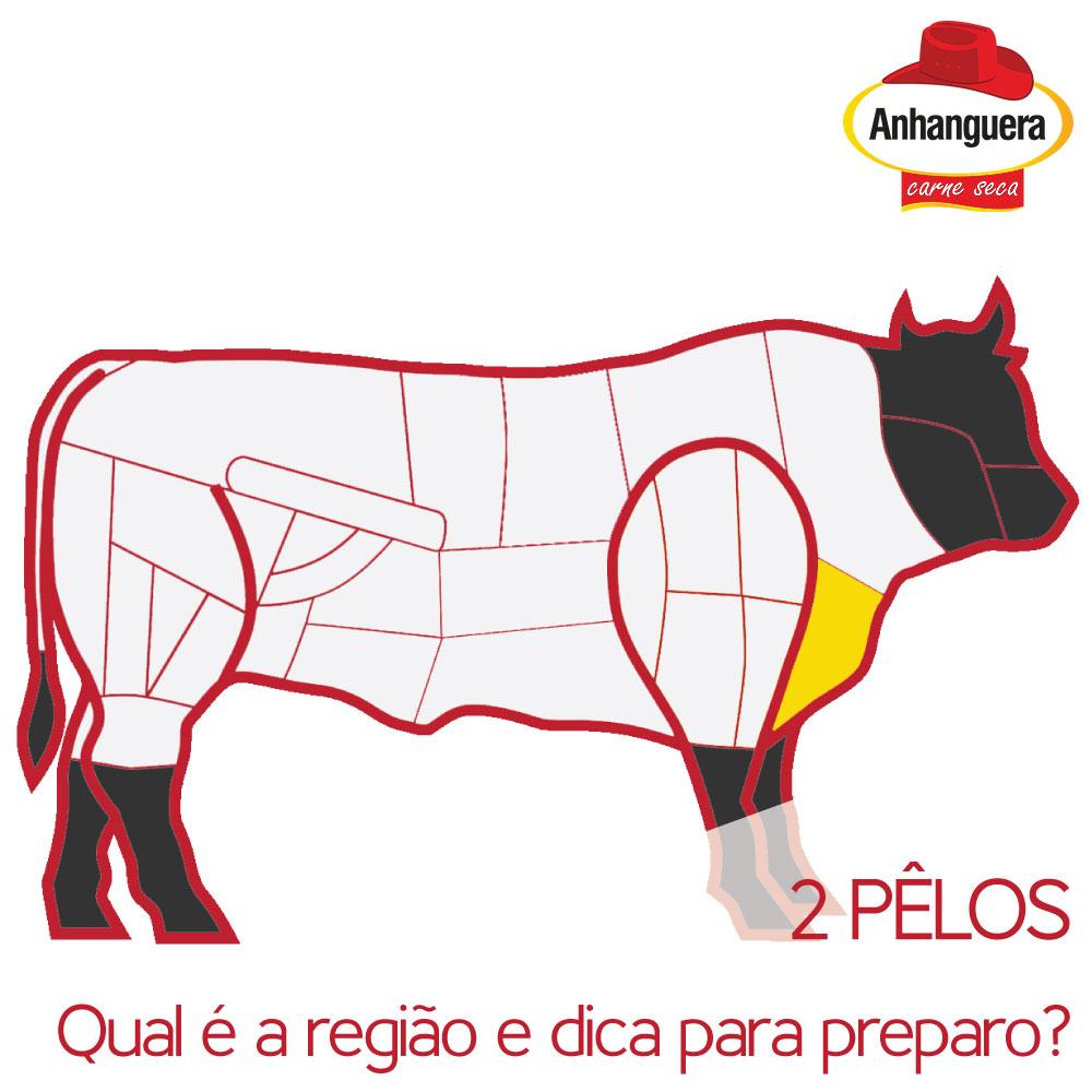 2 pêlos, qual é a região e a dica para preparo? - - Anhanguera Charque Carne Seca Jerked Beef Jabá