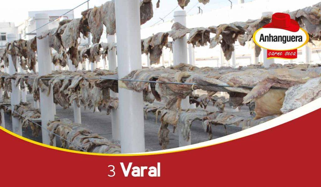 3 Varal - passo do melhor charque do Brasil - Anhanguera Alimentos Carne Seca e Jerked Beef