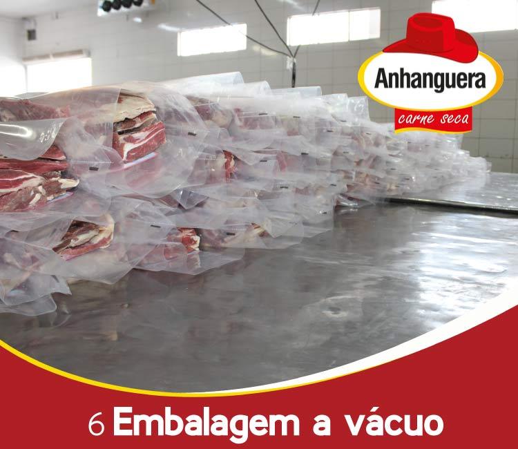 6 Embalagem a vácuo do charque da Anhanguera Carne Seca e Jerked Beef