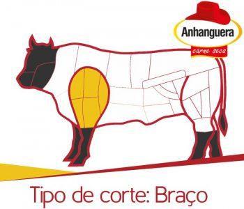 Braço - tipos de corte do charque e jerked beef. Anhanguera carne seca.