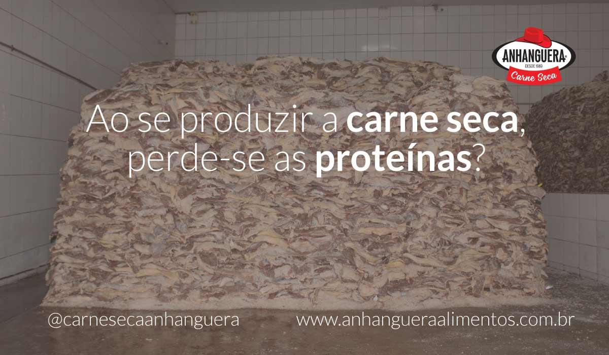Ao se produzir a carne seca, perde-se as proteínas?