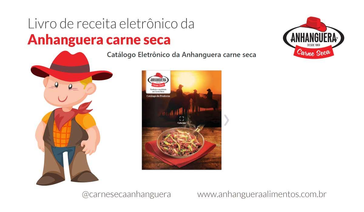 Livro de receita eletrônico da Anhanguera carne seca
