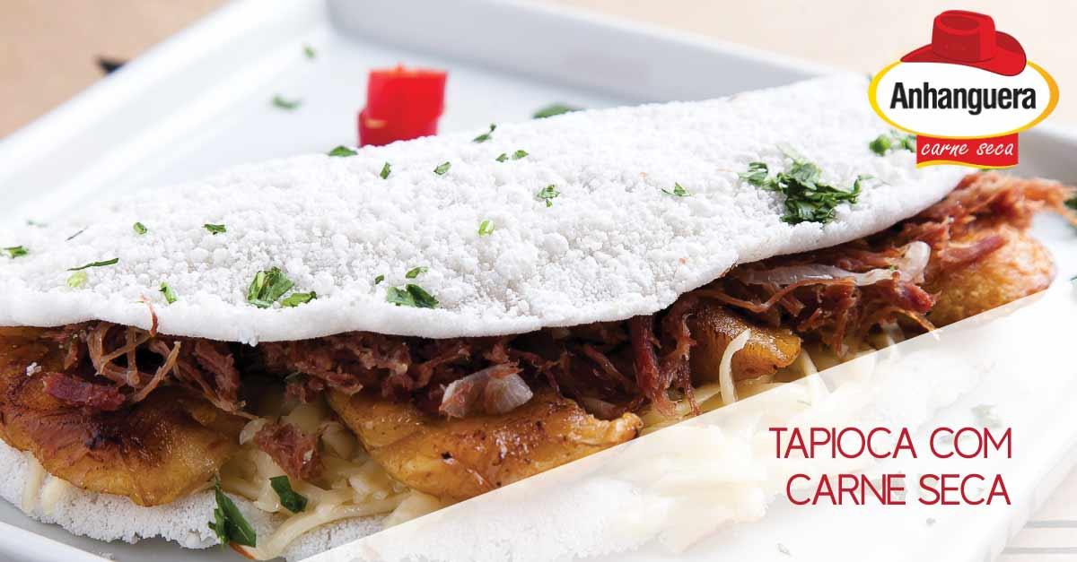 Tapioca com carne seca Anhanguera - Anhanguera Charque Jerked Beef Jaba