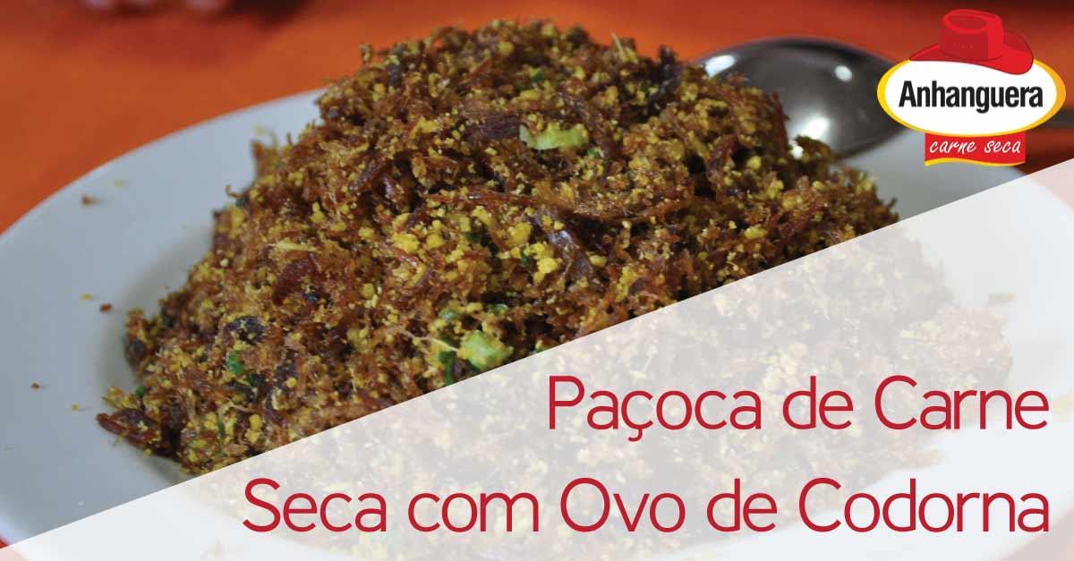 Paçoca de Carne Seca com Ovo de Codorna - Anhanguera Charque Jerked Beef Jaba