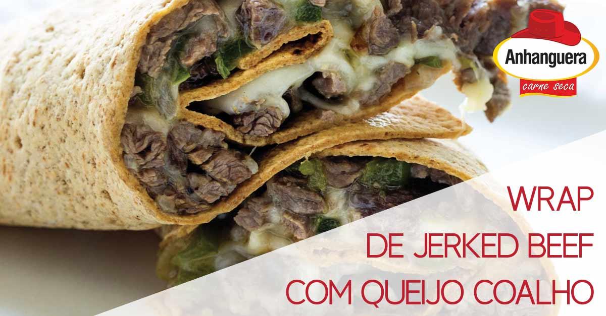 Wrap Jerked Beef com Queijo Coalho - Anhanguera Charque Jerked Beef Jaba