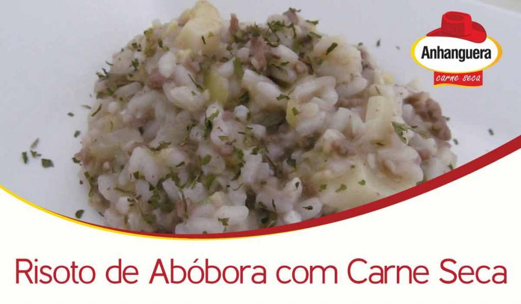 Risoto de Abóbora com Carne Seca - Anhanguera Charque Jerked Beef Jaba