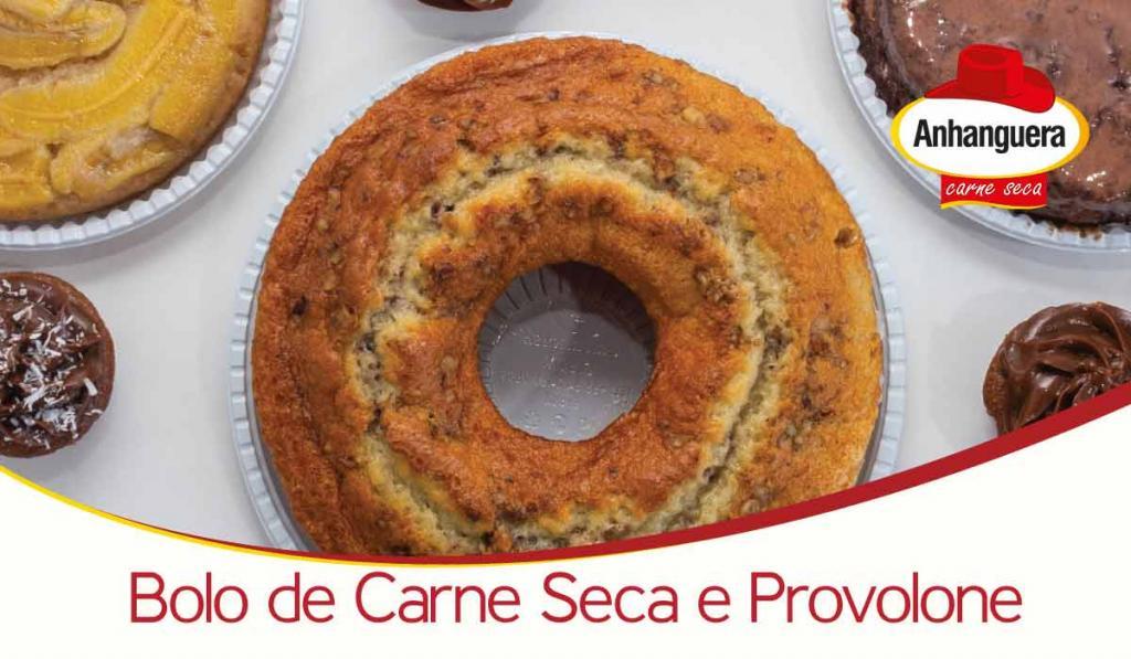 Bolo Salgado de Carne Seca e Provolone - Anhanguera Charque e Jerked Beef