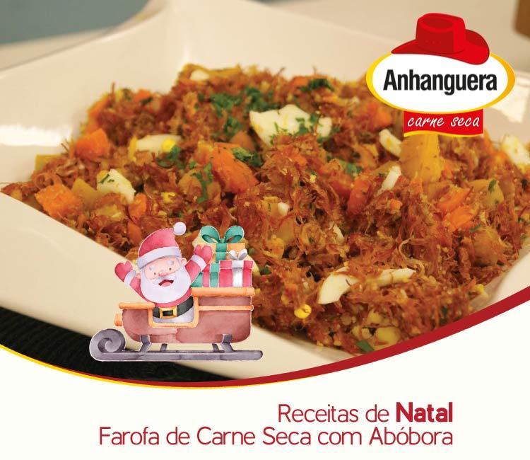 Receitas de Natal - Farofa de carne seca com abóbora