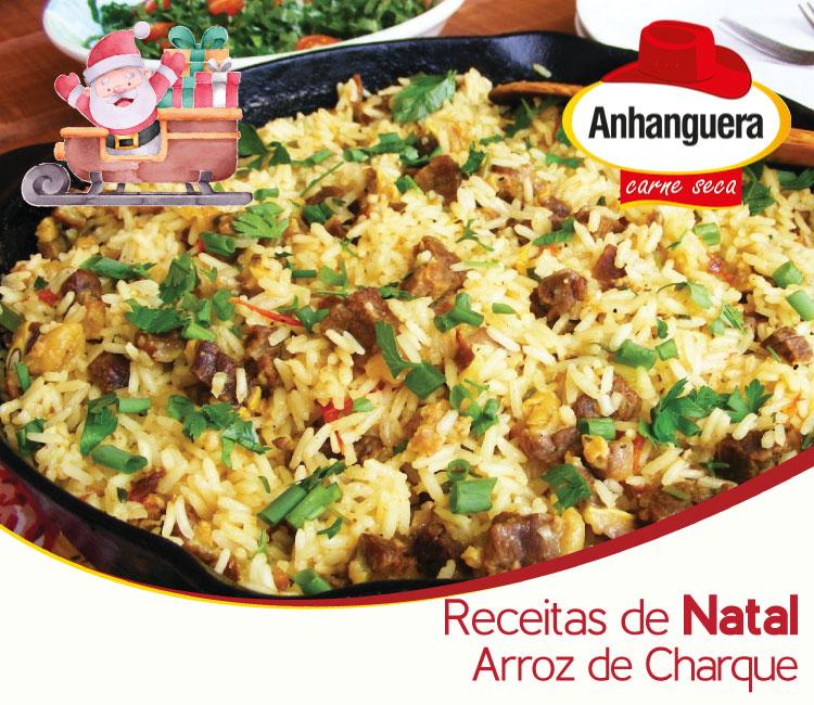 Receitas de Natal Arroz de Charque - Anhanguera Carne Seca e Jerked Beef