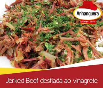 Jerked Beef desfiada ao vinagrete