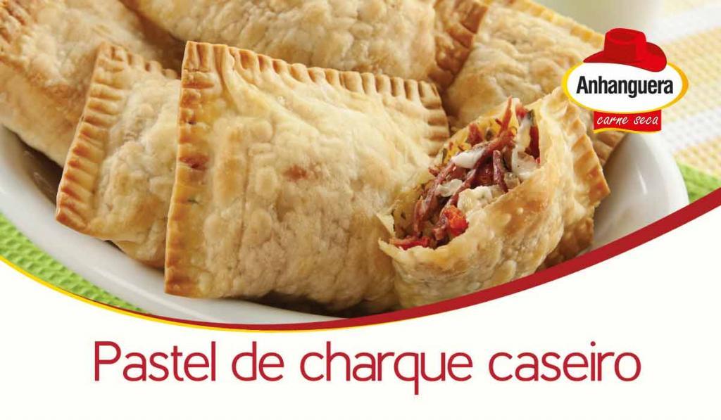 Pastel de charque caseiro - Anhanguera Carne Seca e Jerked Beef