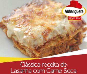 Clássica receita de Lasanha com Carne Seca