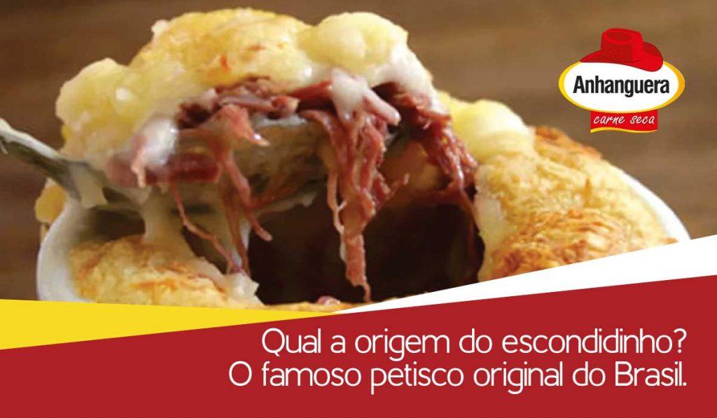 Qual a origem do escondidinho? O famoso petisco original do Brasil.