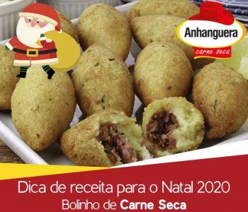 Dica de receita para o Natal 2020 Bolinho de Carne Seca