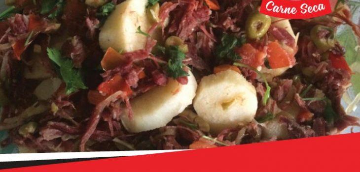 Um clássico do nordeste, o cará com carne seca, uma deliciosa receita.