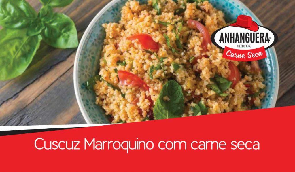 Cuscuz Marroquino com carne seca Anhanguera