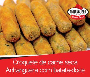 Croquete de carne seca Anhanguera com batata-doce