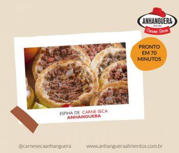 Esfiha aberta de carne seca Anhanguera