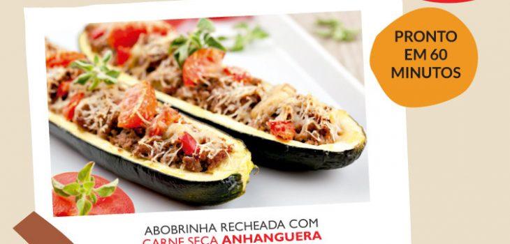 Abobrinha recheada com carne seca Anhanguera 1